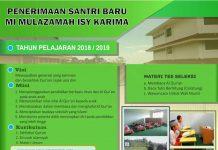 Pendaftaran MI Mulazamah Isy Karima Tahun Pelajaran 2018/2019