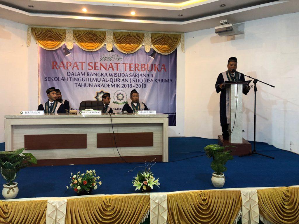 Sambutan ust Dr. Muh. Fajar Pramono, M.Si Wisuda STIQ II
